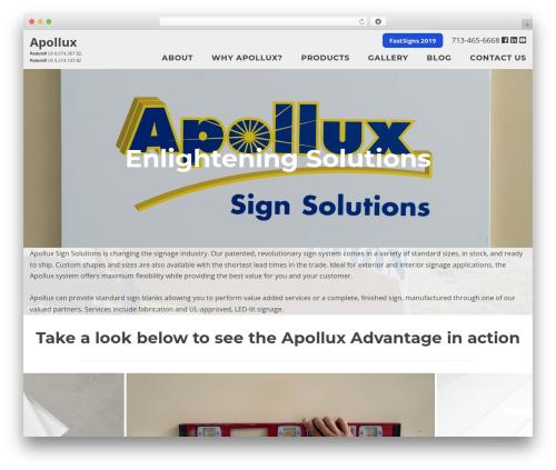 SiteOrigin Corp free WP theme - apolluxsigns.com