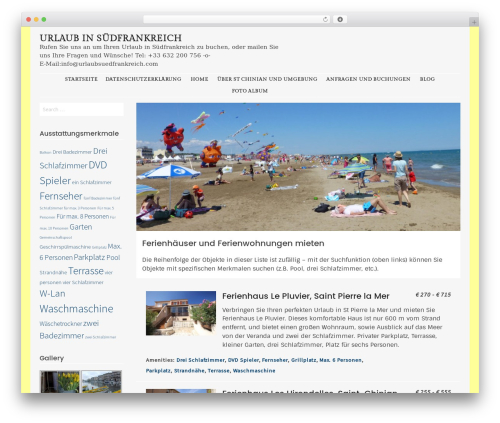 Stay WordPress page template - urlaubsuedfrankreich.com