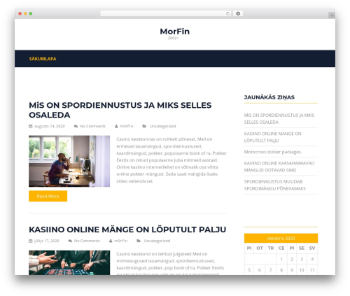 Structural template WordPress free - morfin.ee