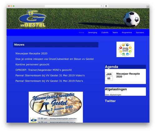 Theme WordPress Redesign Sportlinkclubsites - vv-gestel.com