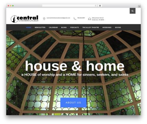 Vision Church best WordPress theme - central-christian-church.com