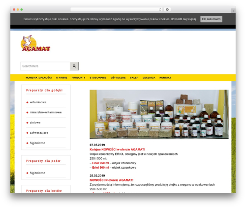 VW Ecommerce Shop WordPress ecommerce template - agamat.com.pl