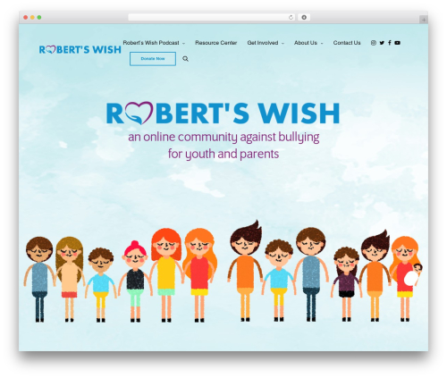 WordPress theme Revolution - robertswish.org