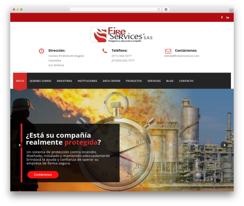 WordPress theme Veda - fireservicescol.com