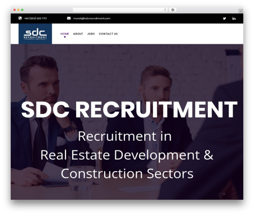 WordPress website template WP Recruitment - sdcexecutive.com
