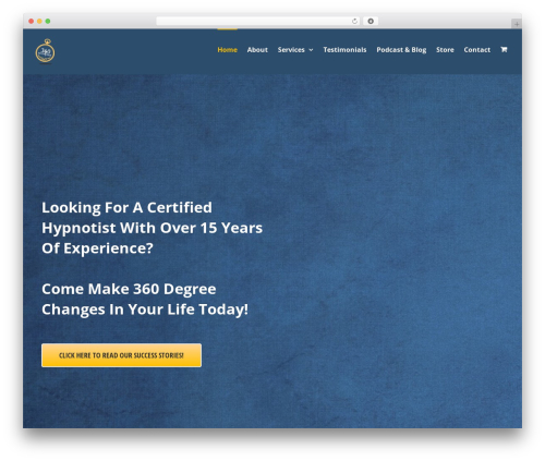 Avada WordPress theme - 360hypnosis.com