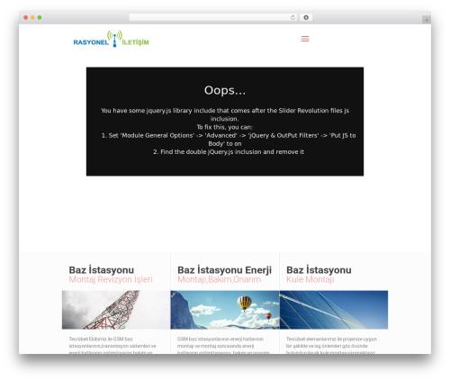 Betheme WordPress theme design - rasyoneliletisim.com