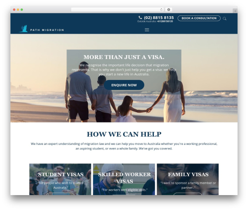 Betheme WordPress theme - pathmigration.com