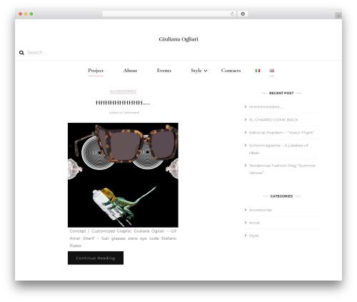 Blossom Fashion fashion WordPress theme - giulianaogliari.com