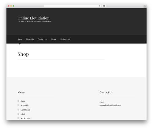 Boutique best free WordPress theme - online-liquidation.com