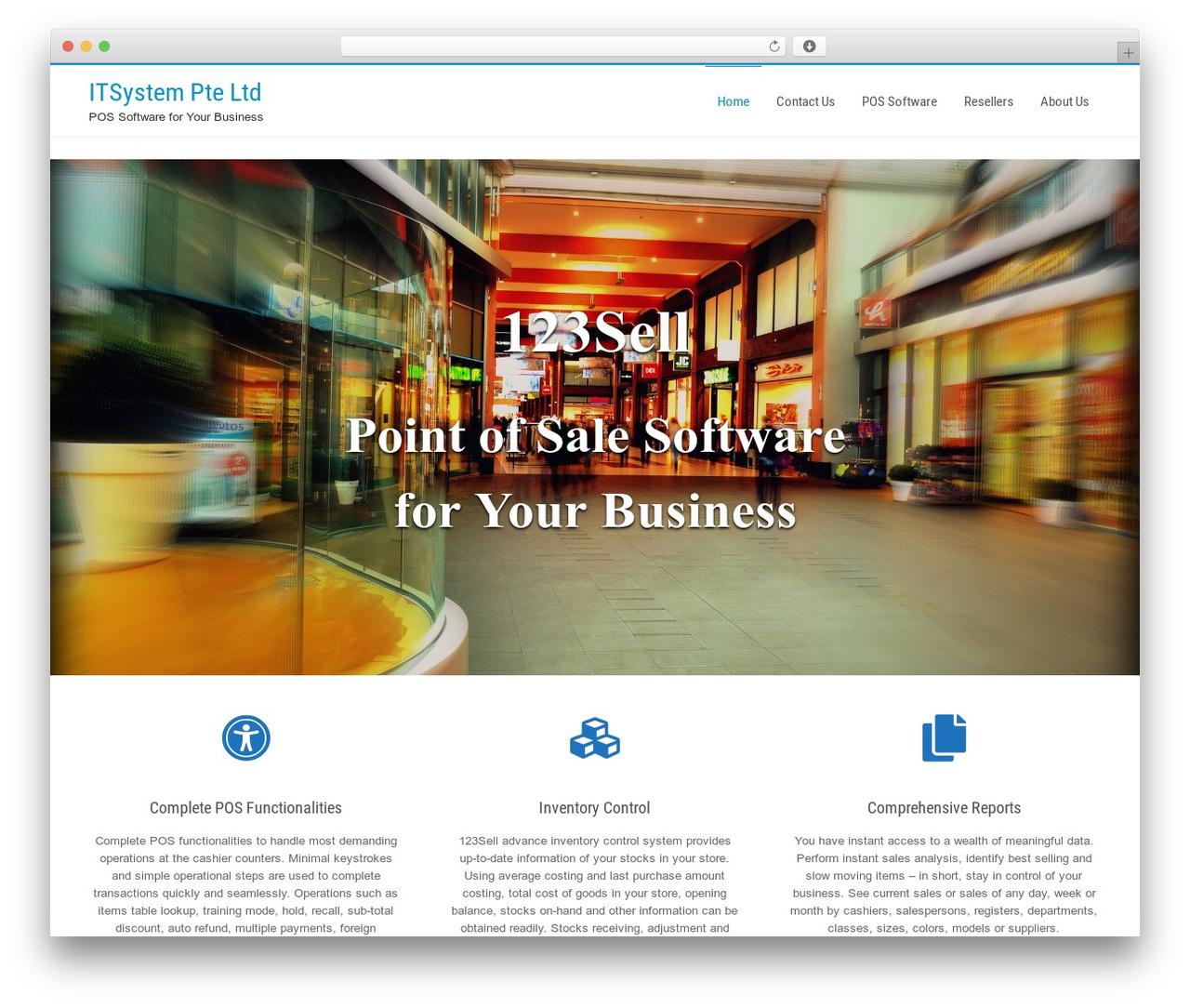 Businessweb Plus template WordPress free - itsyspos.com