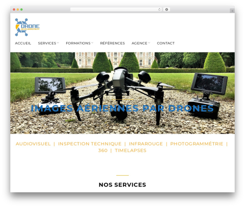 Contractor template WordPress - drone-developpement.fr