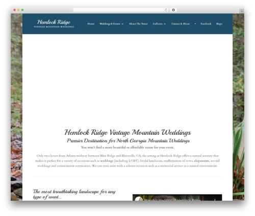 Divi WordPress wedding theme - hemlockridgevintagemountainweddings.com