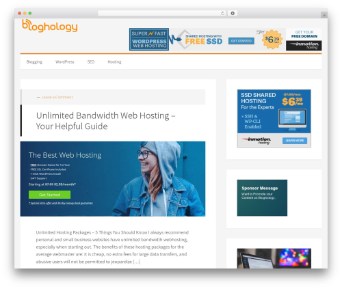 Generate Pro best WordPress theme - bloghology.org
