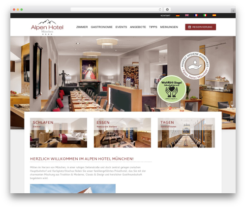 Hotec best hotel WordPress theme - xn--alpenhotel-mnchen-e3b.de