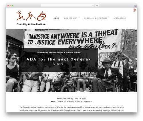 Maisha Lite best free WordPress theme - disabilityactioncoalition.org