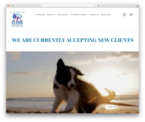 Pet Care theme WordPress - aaak9mobilegrooming.com