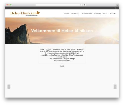 Pinnacle free WordPress theme - helse-klinikken.net