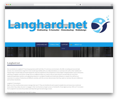 Pure Simple Pro WordPress website template - langhard.net