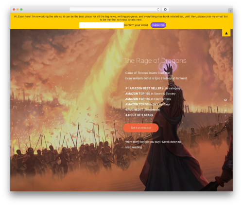 Salient best WordPress theme - evanwinter.com
