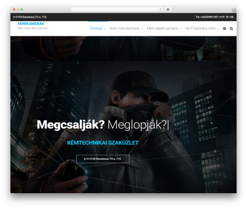 Template WordPress Futurio - minikamerak.hu