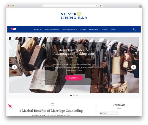 Theme WordPress Fashion Blog - silverliningbar.com