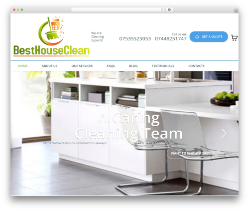 WordPress template Cleaning Services - besthouseclean.com