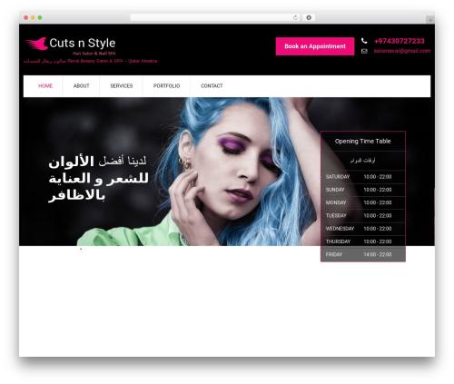 WordPress template SKT Cutsnstyle Pro - salonreval.com