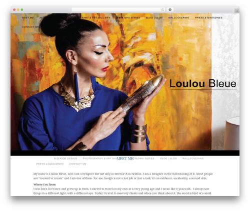 WordPress theme Allure - louloubleue.com