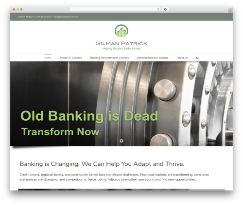 WordPress theme Avada - gilmanpatrick.com