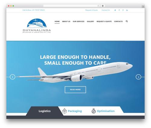 WordPress theme Global Logistics - dhyanalingashipping.com