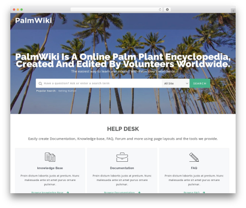 WordPress theme Manual - palmwiki.com