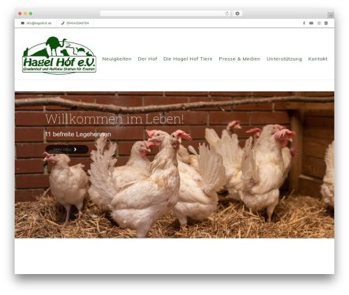 WordPress theme Sanabel - hagelhof.de
