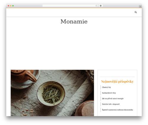 WordPress website template Fashiona - monamie.cz