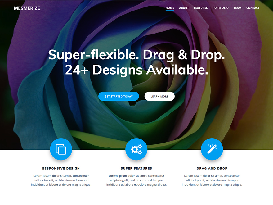 Mesmerize Child theme of mesmerize WordPress website template