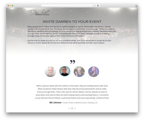Minus WordPress theme - darren-wilson.com