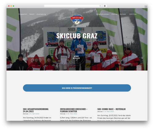 Theme WordPress RunCrew - skiclub-graz.at