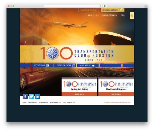 WordPress website template Transportation Club (Thysse) - transclubhou.org
