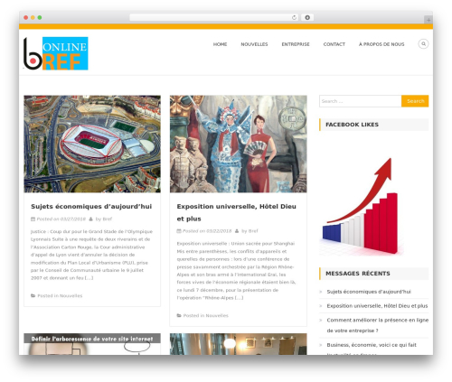 Architect Lite WordPress theme - brefonline.com