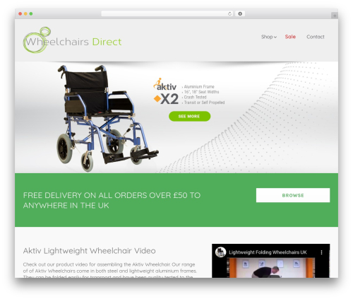Avada theme WordPress - wheelchairsdirect.net