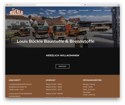 Best WordPress template Inspiro - bueckle-baustoffe.de