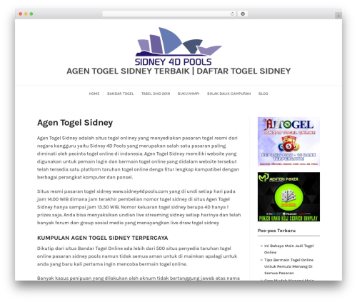 BlogFeedly WordPress blog theme - agentogelsidney.com