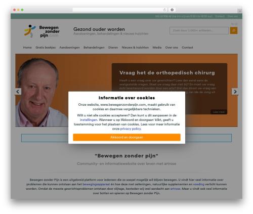 Chameleon best WordPress template - artroseforum.nl