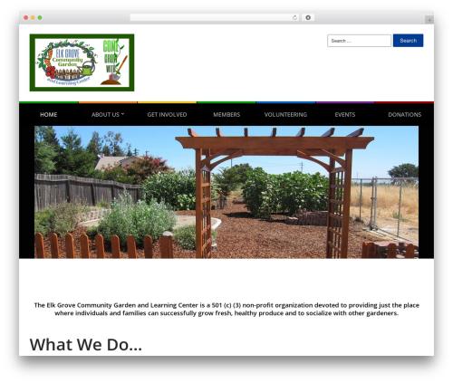 City Hall WordPress template - elkgrovecommunitygarden.org