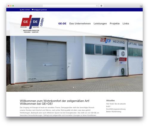 Divi WordPress website template - gede-gmbh.de
