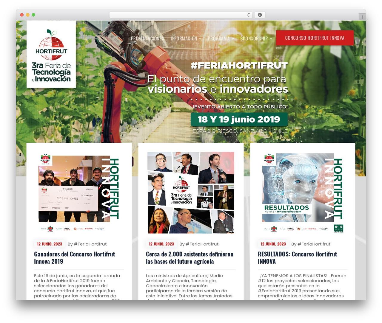 Emeet best WordPress theme - feriahortifrut.com