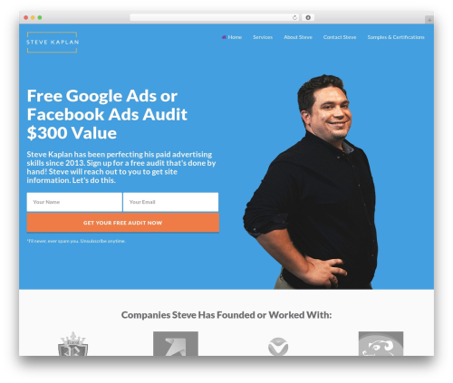 Getleads WordPress theme - thestevekaplan.com