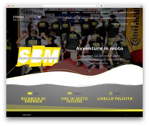 Highlight PRO WordPress website template - stradebiancheinmoto.it