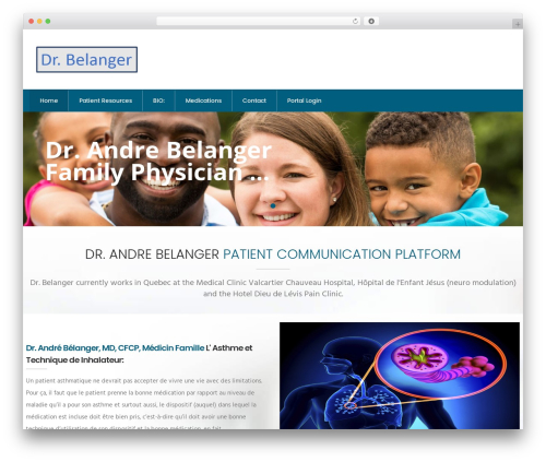 InMedical medical WordPress theme - drandrebelanger.com