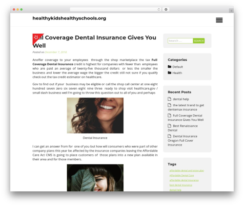Insurance Now theme WordPress free - healthykidshealthyschools.org